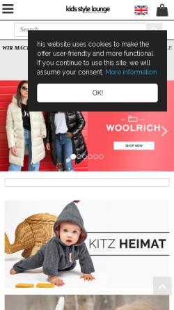 Vorschau der mobilen Webseite www.kids-style-lounge.de, Kids Style Lounge