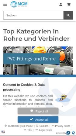 Vorschau der mobilen Webseite www.mcm-systeme.de, MCM-Systeme GbR