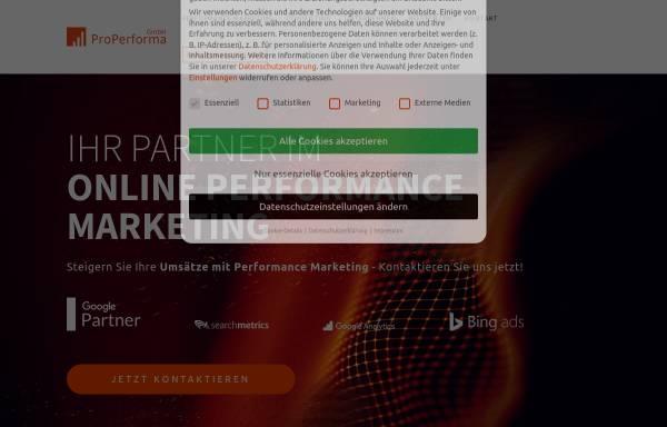 Vorschau von www.properforma.de, ProPerforma GmbH