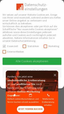 Vorschau der mobilen Webseite www.properforma.de, ProPerforma GmbH