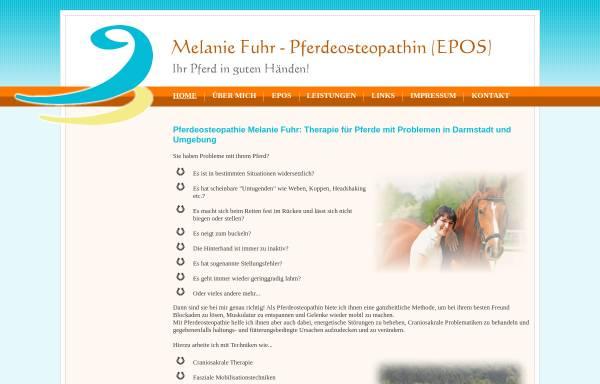 Vorschau von www.fuhr-pferdeosteopathie.de, Pferdeosteopathin EPOS Melanie Fuhr aus Darmstadt