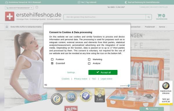 Vorschau von www.erstehilfeshop.de, Erstehilfeshop, TMS Pro Shop GmbH
