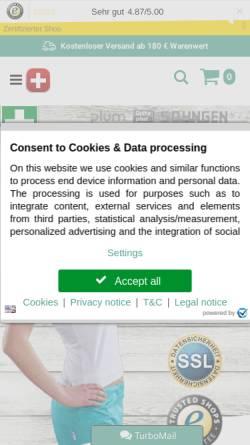Vorschau der mobilen Webseite www.erstehilfeshop.de, Erstehilfeshop, TMS Pro Shop GmbH