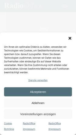 Vorschau der mobilen Webseite www.radio-office.de, RadioOffice GmbH