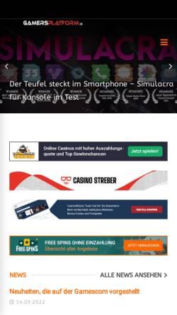 Vorschau der mobilen Webseite gamersplatform.de, Gamersplatform - Wir wollen doch nur Spielen