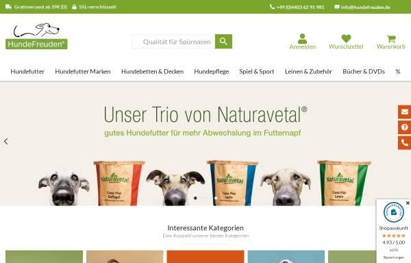 Vorschau von www.hundefreuden.de, HundeFreuden - Qualität für Spürnasen!