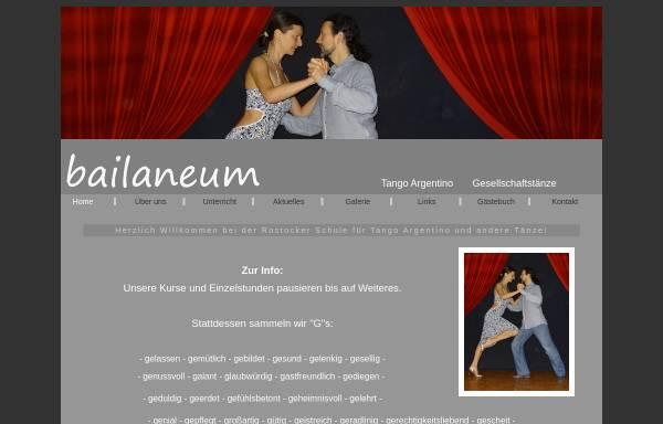 Vorschau von www.bailaneum.de, Tanzschule Bailaneum