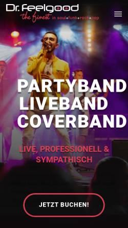 Vorschau der mobilen Webseite www.livecoverband.de, Booking of Dr.Feelgood, Matthias Seger
