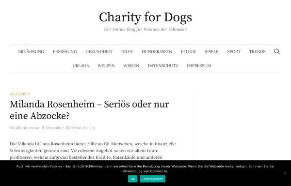Vorschau von www.charityfordogs.de, Charity for Dogs