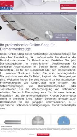 Vorschau der mobilen Webseite www.team-thaler-shop.com, Team Thaler