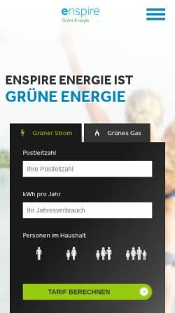 Vorschau der mobilen Webseite www.enspire-energie.de, Enspire Energie