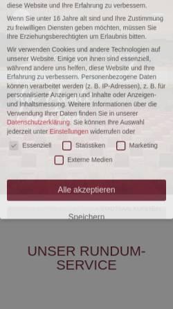 Vorschau der mobilen Webseite www.stadtsaal-kufstein.at, Stadtsaal Kufstein
