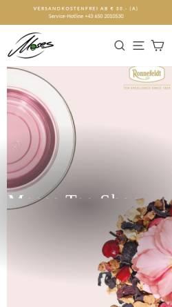 Vorschau der mobilen Webseite tee-shop.at, Moses Tee Shop