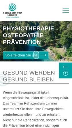 Vorschau der mobilen Webseite www.rehazentrum-limmer.de, Rehazentrum Peggy Limmer