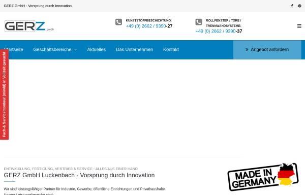 Vorschau von gerz-gmbh.de, GERZ GmbH
