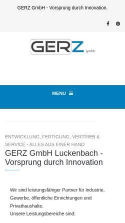 Vorschau der mobilen Webseite gerz-gmbh.de, GERZ GmbH