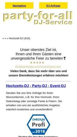 Vorschau der mobilen Webseite www.plane-deine-feier.de, Plane-Deine-Feier, Bernd Schydlowski