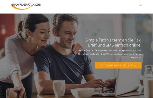 Vorschau von simple-fax.de, Simple Fax