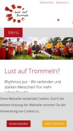 Vorschau der mobilen Webseite www.lust-auf-trommeln.de, Lust auf Trommeln