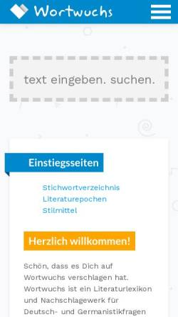 Vorschau der mobilen Webseite wortwuchs.net, Wortwuchs
