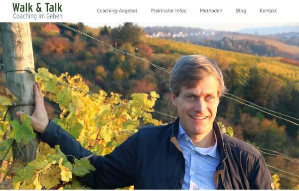 Vorschau von www.walk-and-talk-stuttgart.de, Walk & Talk - Coaching im Gehen, Johann-Friedrich Weber