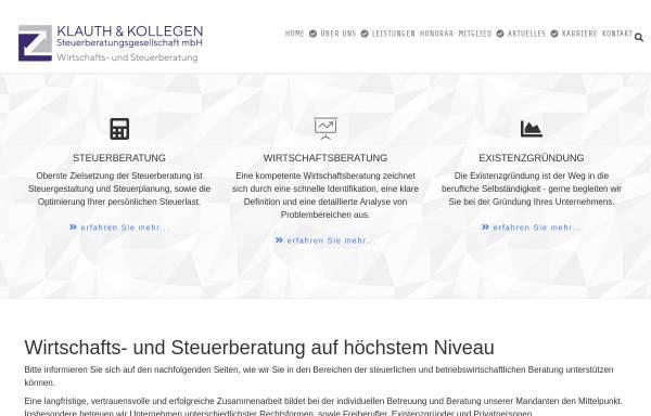 Vorschau von www.steuerberater-klauth.de, Steuerberater Klauth