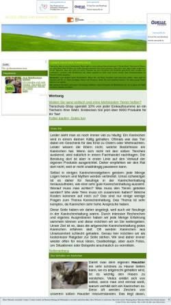 Vorschau der mobilen Webseite www.haustiere-kaninchen.de, Die Seite rund um das Kaninchen