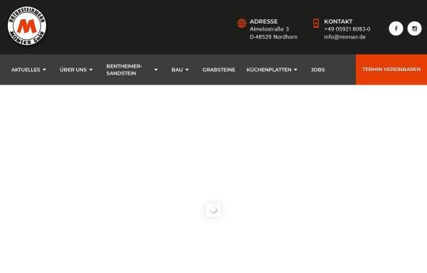 Vorschau von www.monser.de, Natursteinwerk Monser GmbH