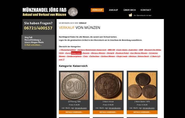 Vorschau von www.muenzservicefass.de, Münzservicefass