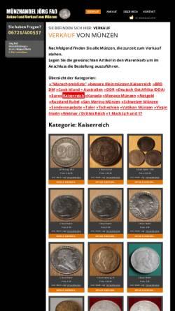 Vorschau der mobilen Webseite www.muenzservicefass.de, Münzservicefass