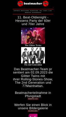 Vorschau der mobilen Webseite www.DIE-BEATMACHER.de, DIE BEATMACHER - Bundesweiter DJ Service