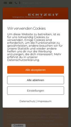Vorschau der mobilen Webseite www.echtzeit.de, Echtzeit GmbH & Co. KG - Werbeagentur für integrative Kommunikation