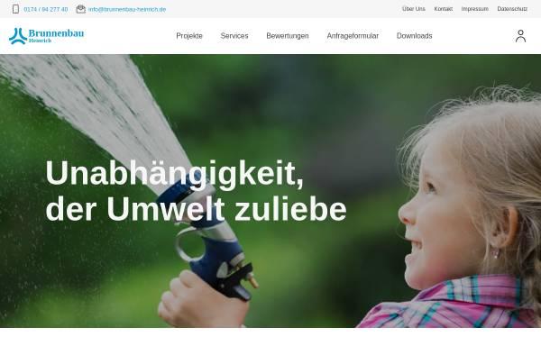 Vorschau von www.brunnenbau-heinrich.de, Brunnenbau & Erdwärmesonden Ronald Heinrich