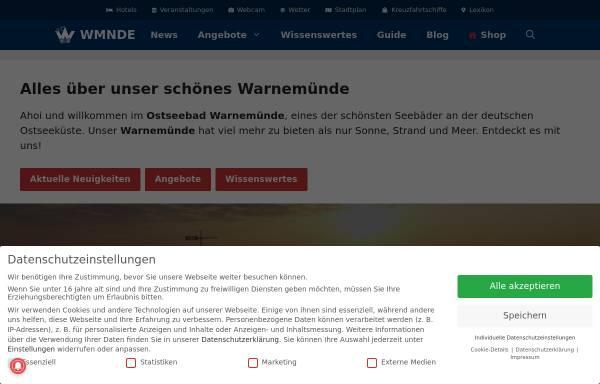 Vorschau von wmnde.de, Warnemünde-Portal