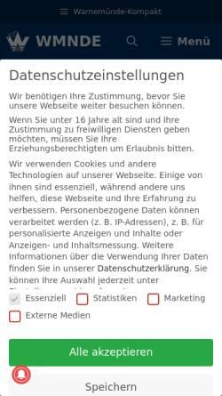 Vorschau der mobilen Webseite wmnde.de, Warnemünde-Portal