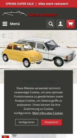 Vorschau der mobilen Webseite www.kleine-klassiker.de, Kleine Klassiker