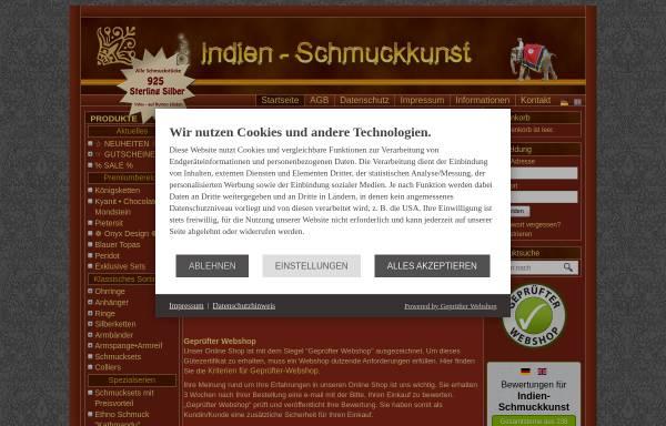 Vorschau von www.indien-schmuckkunst.de, Indien-Schmuckkunst, Musa-Trade Dipl. Ing. Ahmed Musa