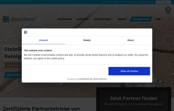 Vorschau von www.steinrein.com, Reinigungssteinmetz SteinRein