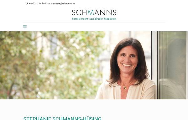 Vorschau von www.schmanns.eu, Rechtsanwälte Karl Reimar Schmanns & Stephanie Schmanns-Hüsing