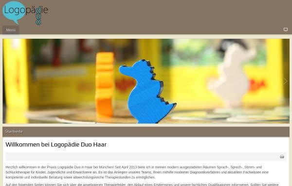 Vorschau von www.logopaedie-duo-haar.de, Logopädie Duo Haar