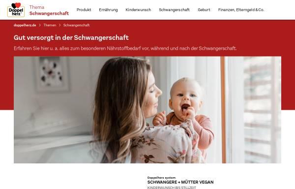 Vorschau von www.doppelherz-schwangerschaft.de, Doppelherz für Schwangere und Mütter