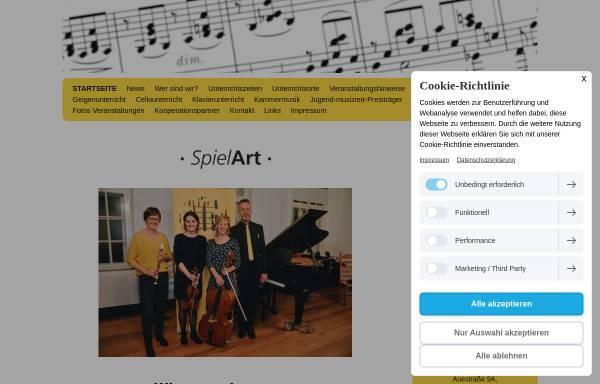 Vorschau von www.spielart-musikunterricht.de, SpielArt Musikschule