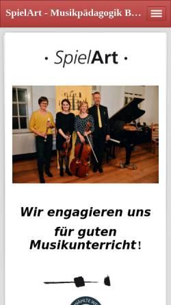 Vorschau der mobilen Webseite www.spielart-musikunterricht.de, SpielArt Musikschule