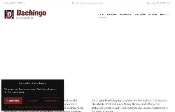 Vorschau von dschingo-geruestbau.de, DSCHINGO Bau und Gerüstbau, Inh: Blerim Krasnici
