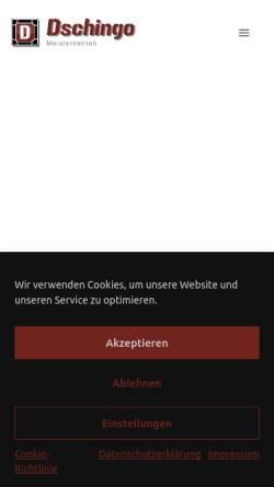 Vorschau der mobilen Webseite dschingo-geruestbau.de, DSCHINGO Bau und Gerüstbau, Inh: Blerim Krasnici