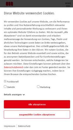 Vorschau der mobilen Webseite www.mellowmessage.de, mellowmessage GmbH
