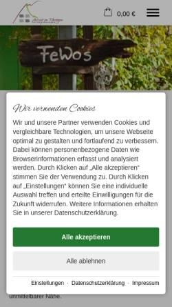 Vorschau der mobilen Webseite www.bergkoenig.de, Bergkönig Ferienwohnungen