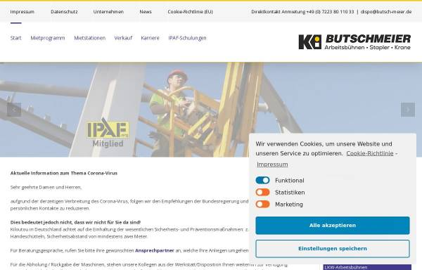 Vorschau von www.butsch-meier.de, Butsch & Meier GmbH