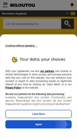Vorschau der mobilen Webseite www.butsch-meier.de, Butsch & Meier GmbH