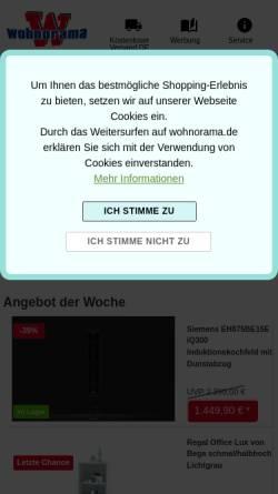 Vorschau der mobilen Webseite www.woody-moebel.de, Woody Möbel GmbH